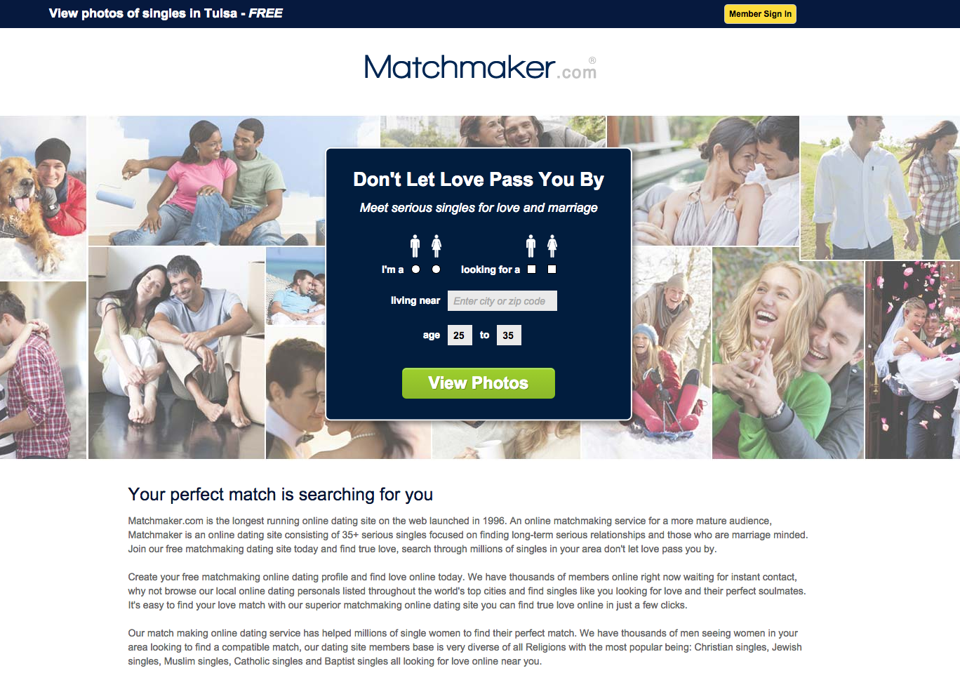 matchmakers dating website