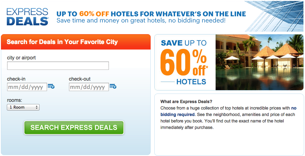 Express Deals Promo Code Madrid