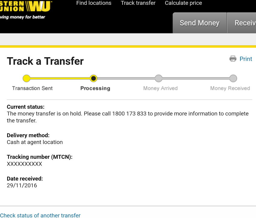 Western union dating scams