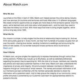 www.match.com Guide