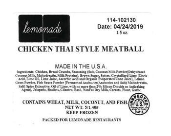 Santa Fe Importers recalls ready-to-eat chicken meatballs