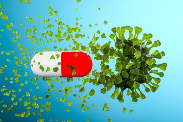 Pill crashing through COVID-19 germ