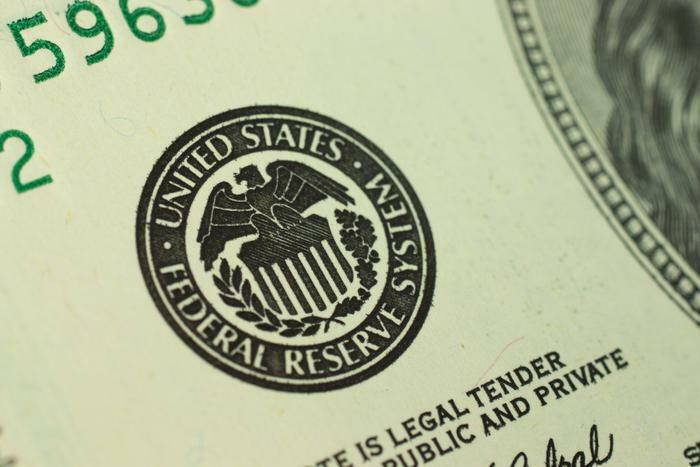 Federal Reserve seal on money