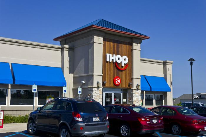 IHOP becomes IHOb, and the b is for burgers