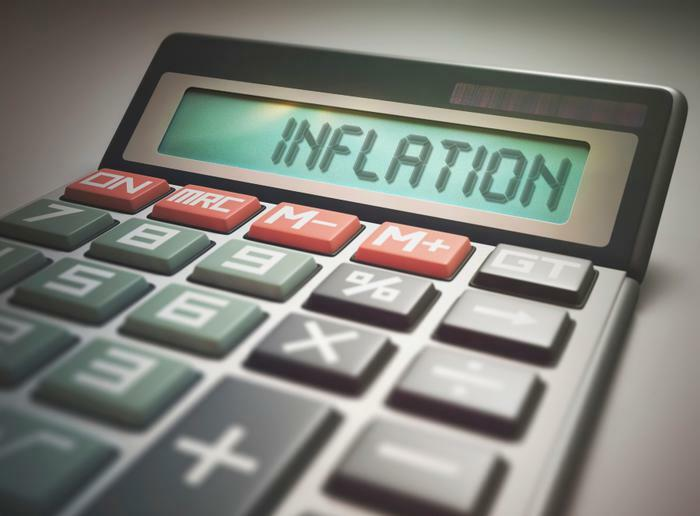 inflation word on calculator