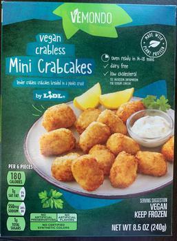 Vemondo vegan crabless mini crabcakes