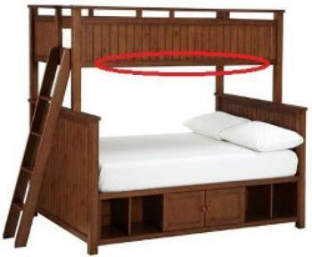Perfect PBteen a division of Williams Sonoma Inc of San Francisco is recalling about Beadboard Bunk Beds