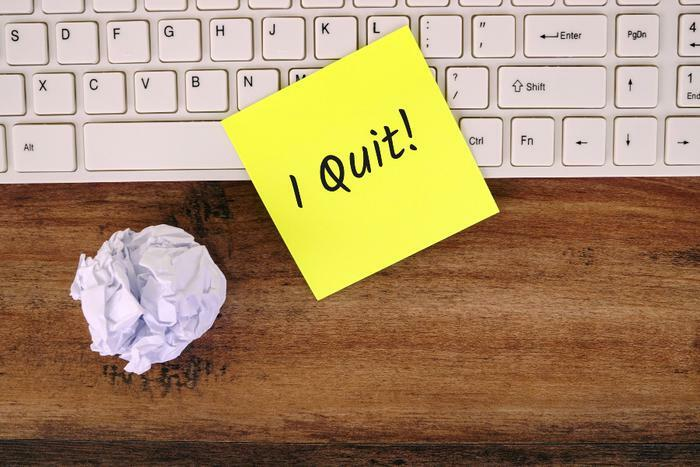 Quitting job concept