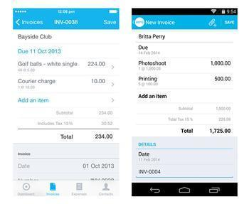 5 of the best mobile online billing software apps for business, Invoice templates