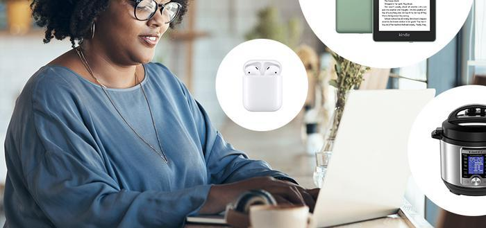 woman online shopping amazon prime day deals