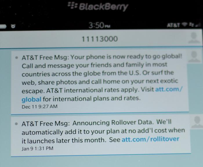 Problem: genuine AT&T texts look too much like phishing bait