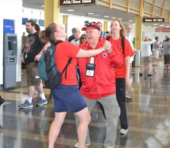 c53791da86a Older vets  Honor Flight visits to Washington aren t always somber. This  Wisconsin veteran had women waiting in line as he danced to the Fairfax (Va.