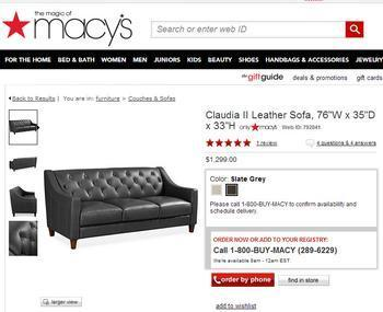 Consumers Find Leather Furniture Doesn