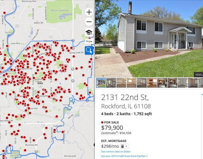 Map Of America Rockford.The 5 Cheapest Housing Markets In America