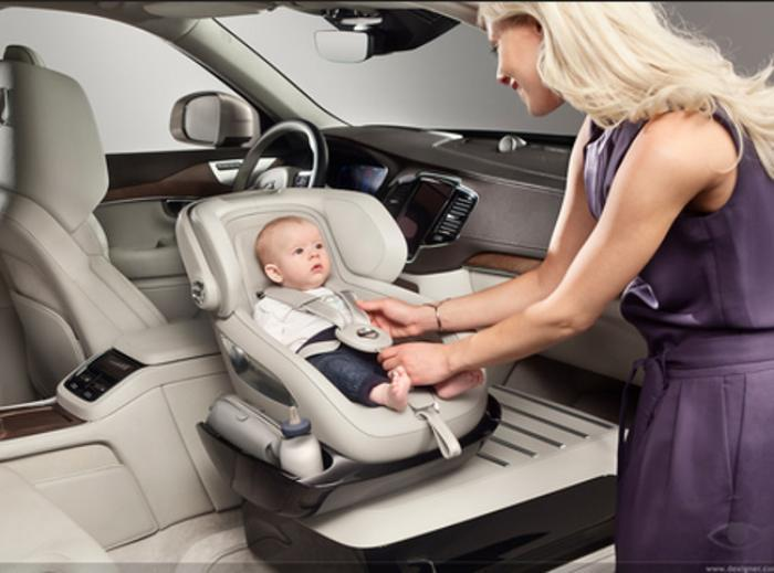 Volvo Concept SUV Features Built In Child Safety Seat