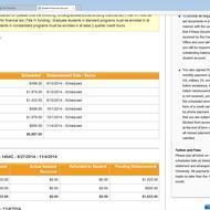 When should i recieve kaplan financial aid refund?