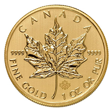 1 oz canadian gold maple leaf coin