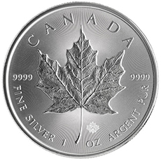 1 oz canadian silver maple leaf coin