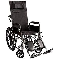 healthline recliner folding wheelchair