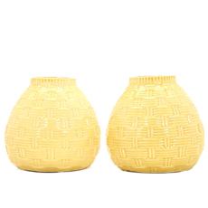 hosley ceramic yellow vases