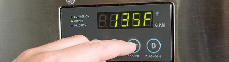 réglage de la température sur un chauffe-eau avec une pompe à chaleur