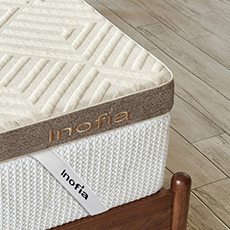 inofia dual layer latex mattress topper