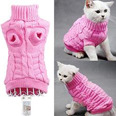 knit turtleneck cat sweater