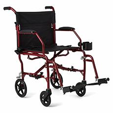 medline ultralight transport mobility wheelchair