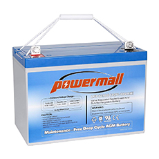powermall deep cycle agm solar battery