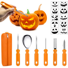 Pumpkin carving tool set