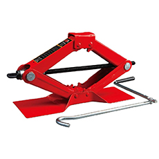 red scissor car jack