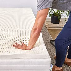 sleep on pure green natural latex mattress topper