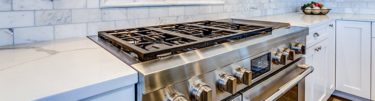 large gas oven and stove