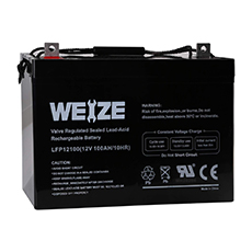 weize 12v deep cycle agm battery