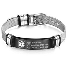 wendy made medical alert bracelet