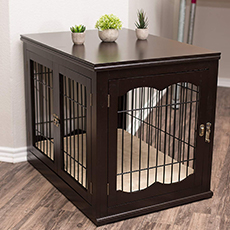 wooden end-table kennel