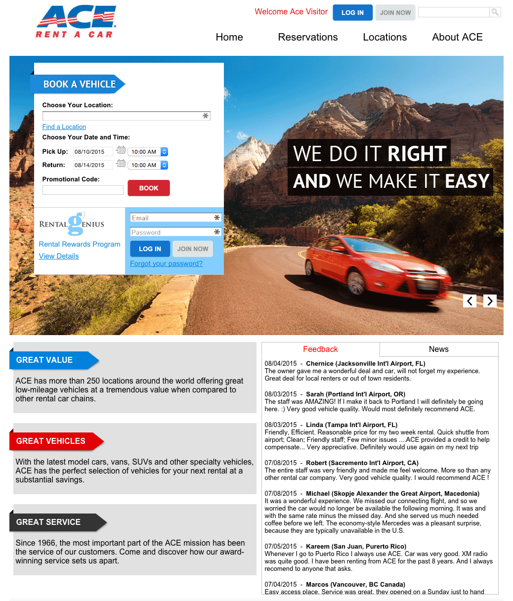 Top 230 Complaints And Reviews About ACE Rent A Car