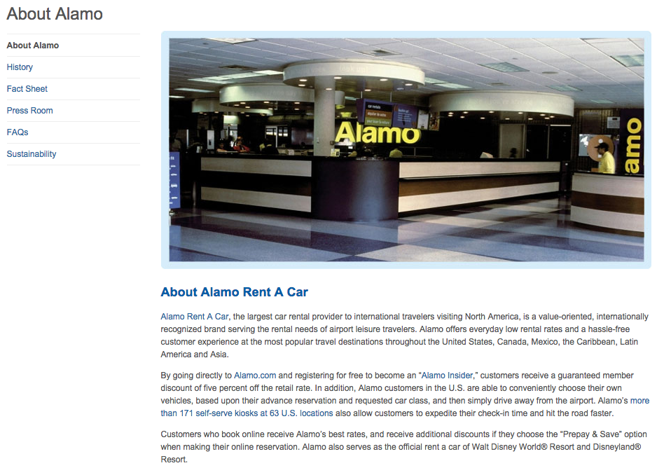 Alamo Rental Car Brands