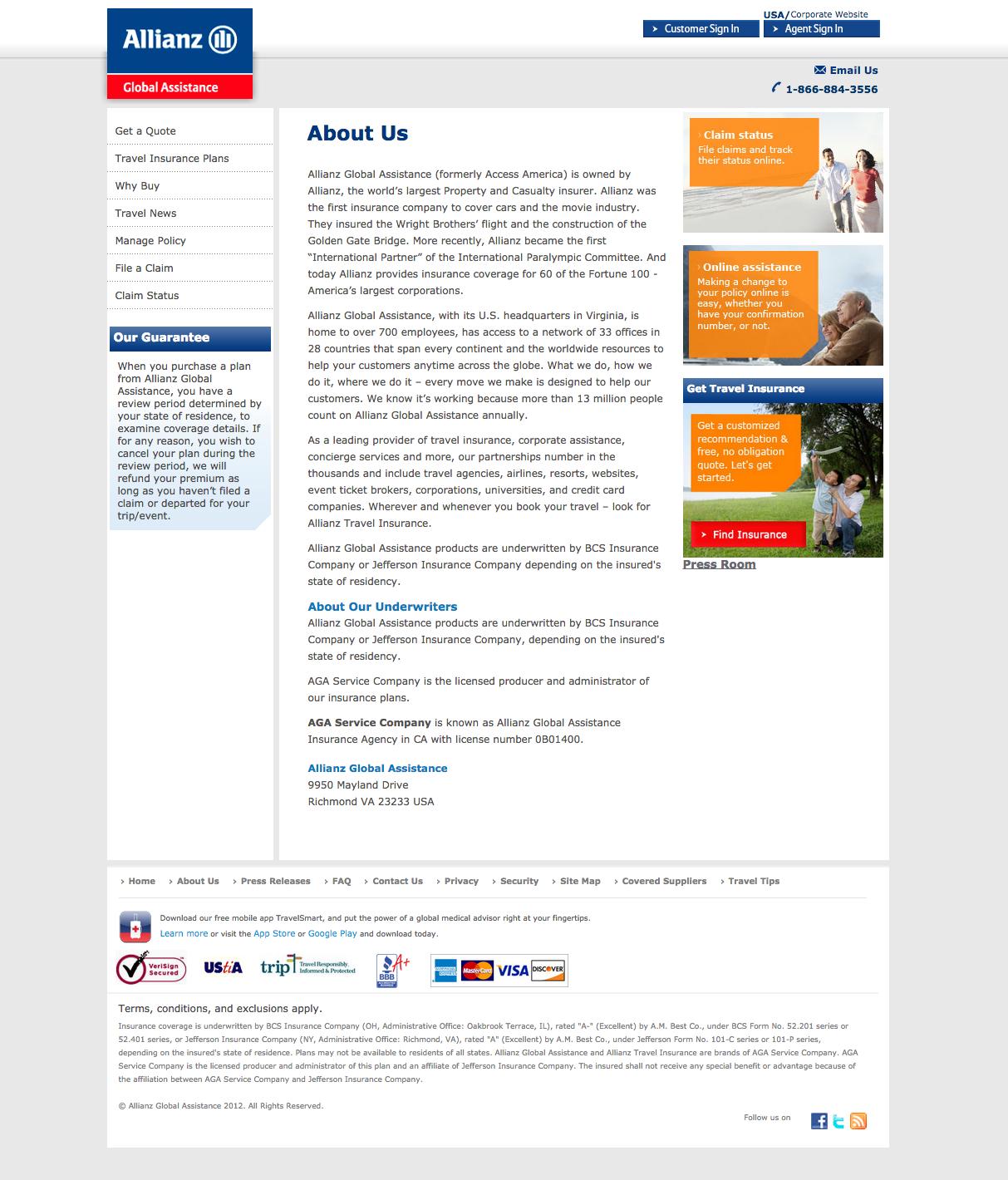 Allianz Travel Insurance Complaints