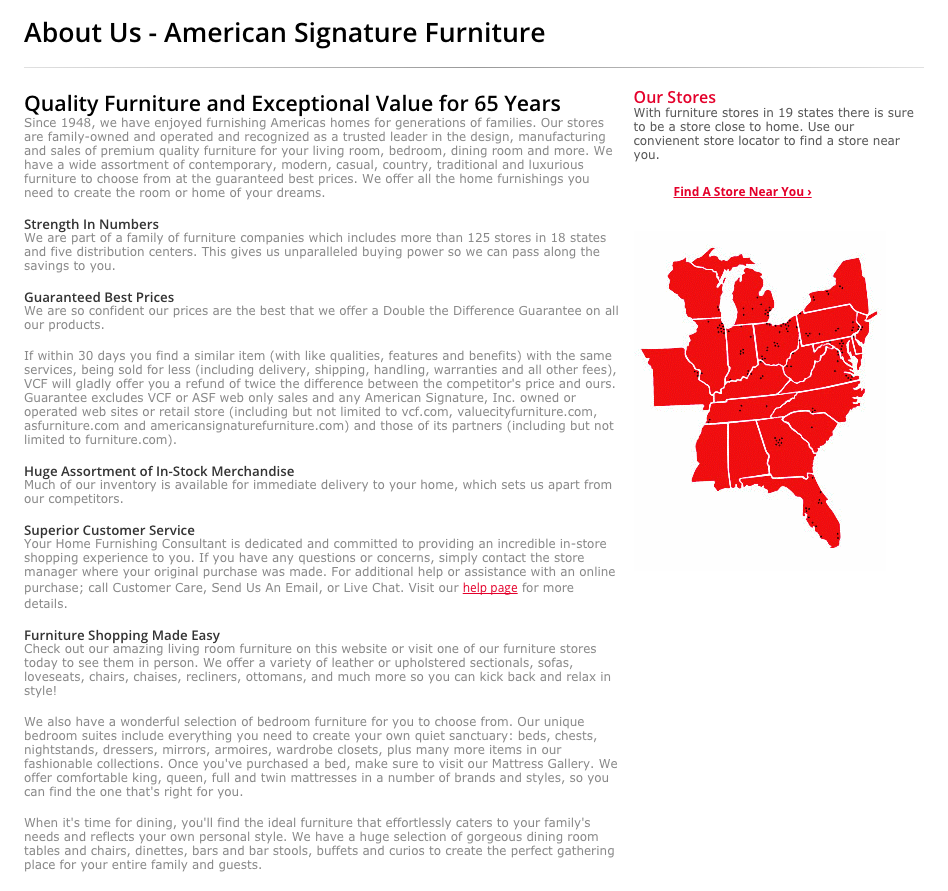 Top 151 Complaints and Reviews about American Signature Furniture