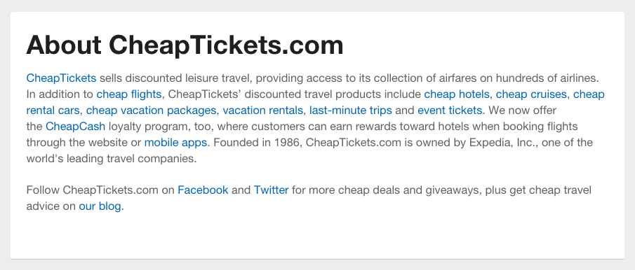 Cheaptickets Contact