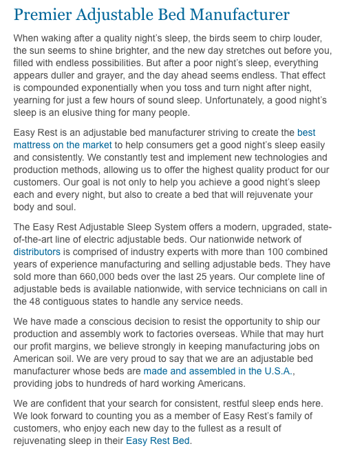 top 7827 reviews about easy rest adjustable sleep systems