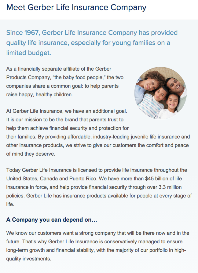 Life Insurance Quotes For Parents Simple Gerber Life Insurance Quote  44Billionlater