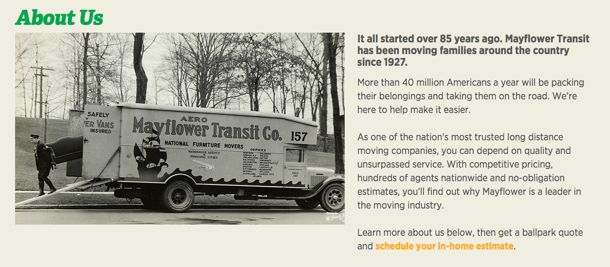 mayflower international moving images