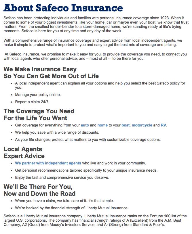 top 53 complaints and reviews about safeco auto insurance