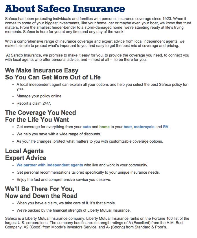 Auto Insurance Reviews Safeco Auto Insurance Reviews