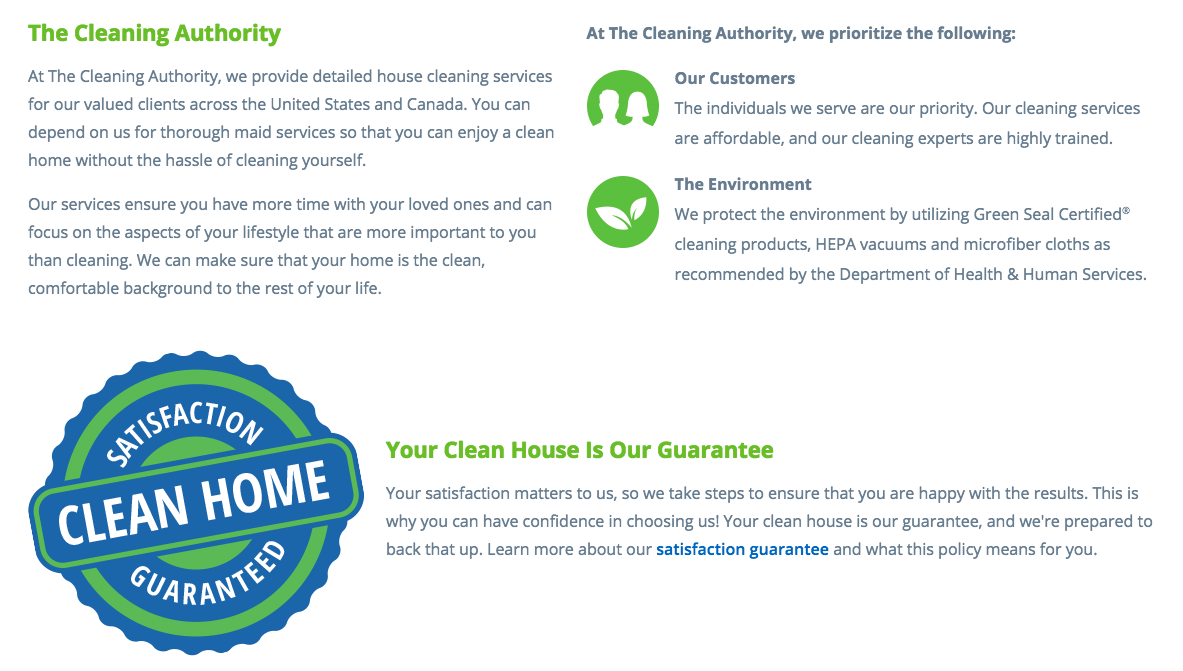 top 26 reviews and complaints about the cleaning authority the cleaning authority images