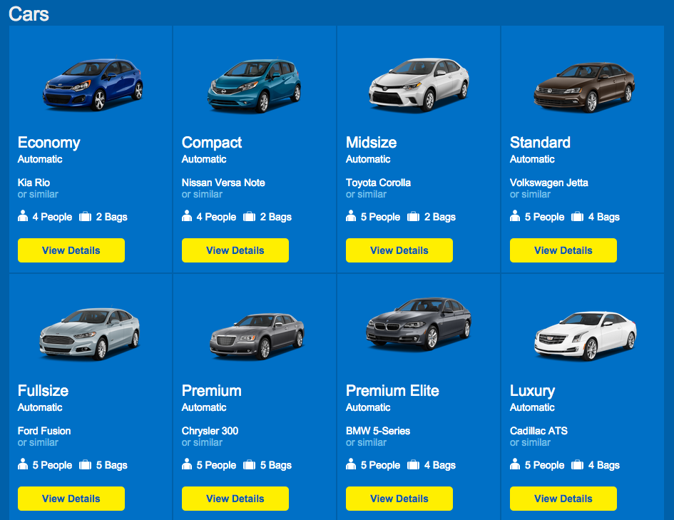 Luxury Car Rental Website