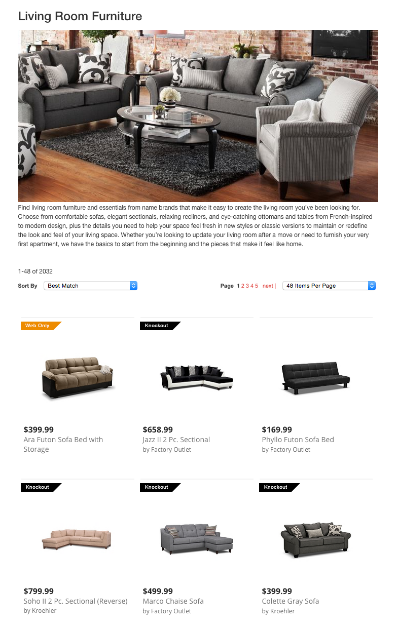 Top 151 complaints and reviews about american signature for Furniture options