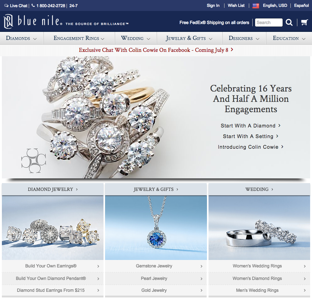 Blue Nile Jewelry Web Site 23